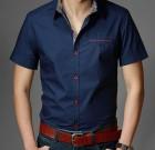Camisa casual manga corta, comfort fit